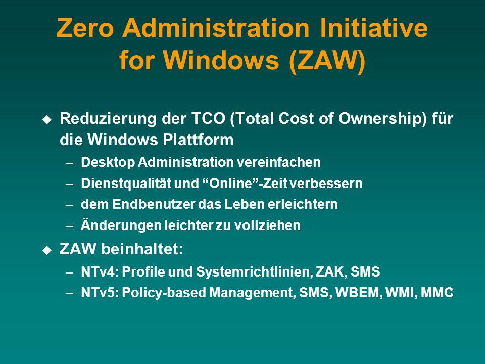 Zero Administration Initiative for Windows (ZAW)