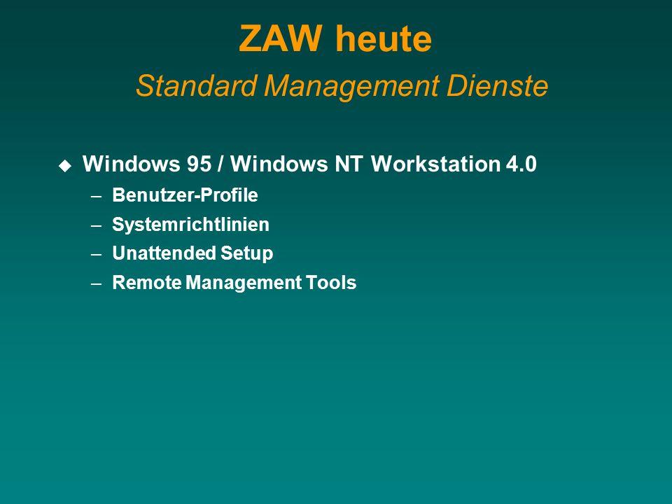 ZAW heute Standard Management Dienste