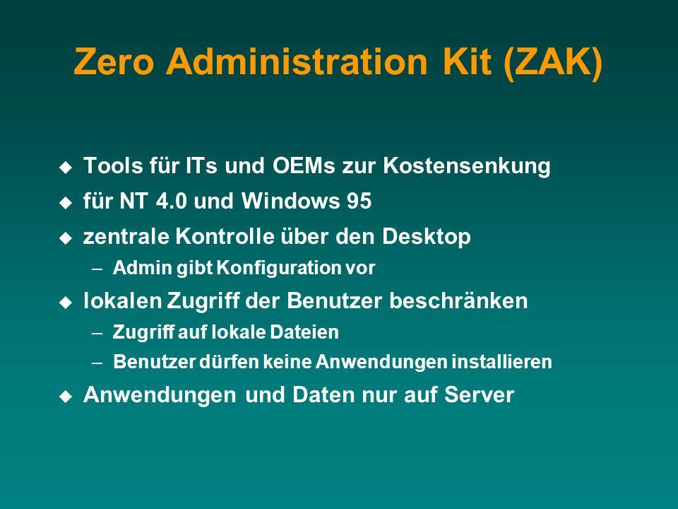 Zero Administration Kit (ZAK)