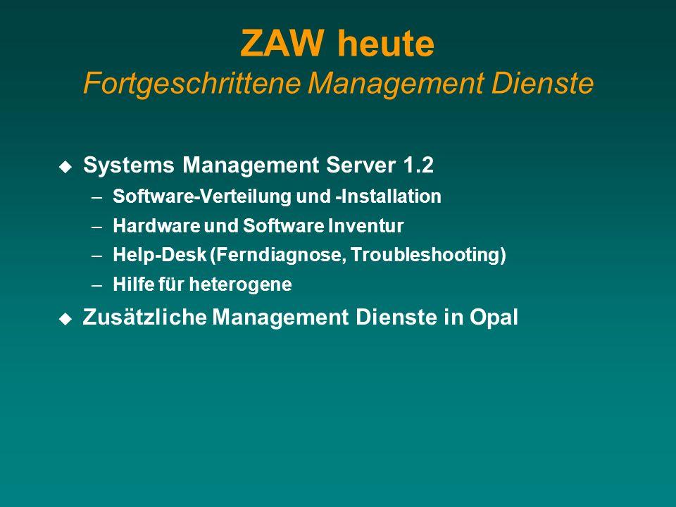 ZAW heute Fortgeschrittene Management Dienste
