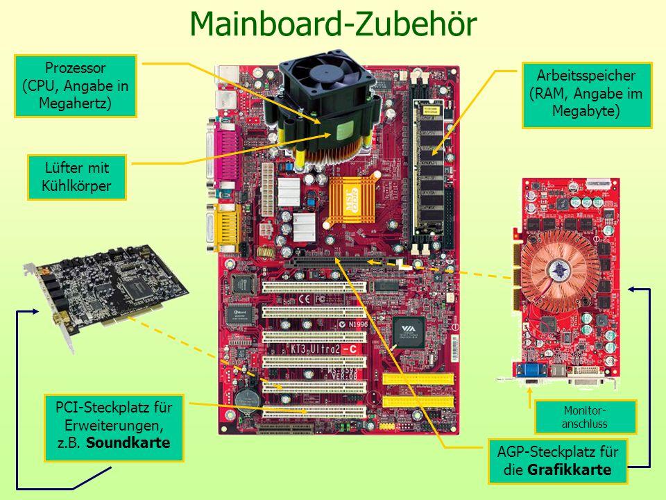 Mainboard-Zubehör Prozessor (CPU, Angabe in Megahertz)