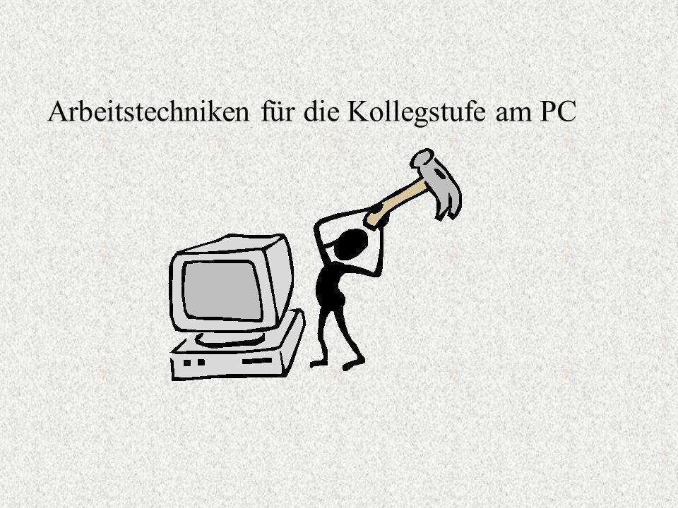 Der PC als Hilfsmittel für die Schule