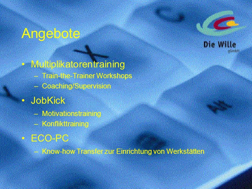 Angebote Multiplikatorentraining JobKick ECO-PC