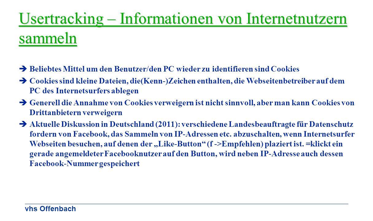 Usertracking – Informationen von Internetnutzern sammeln