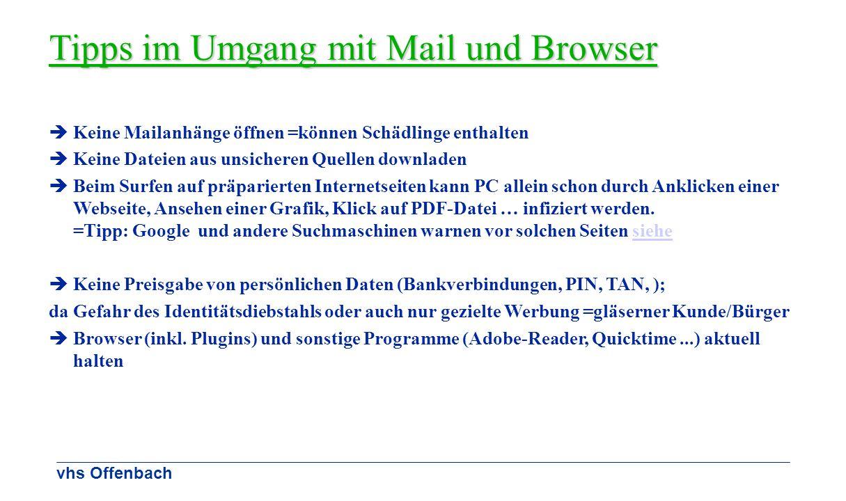 Tipps im Umgang mit Mail und Browser
