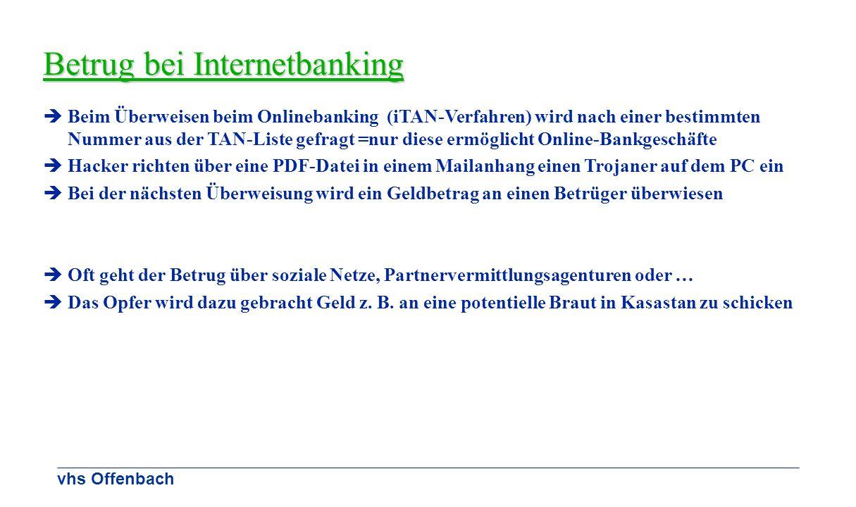 Betrug bei Internetbanking