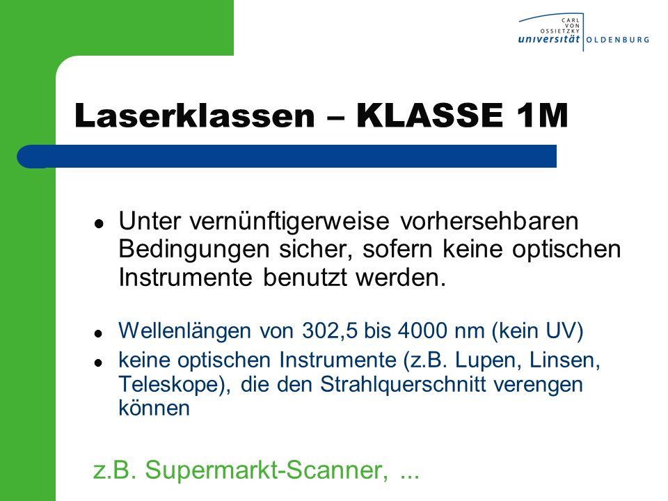 Laserklassen – KLASSE 1M