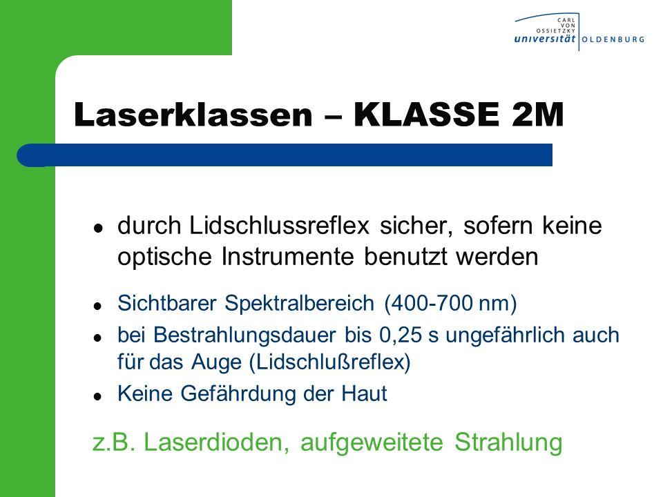 Laserklassen – KLASSE 2M