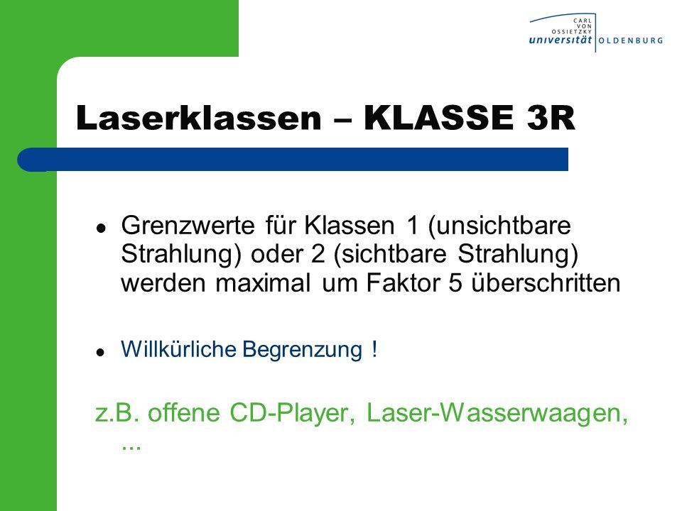 Laserklassen – KLASSE 3R