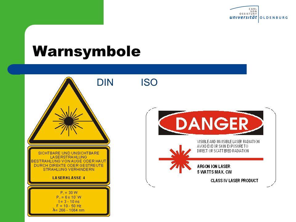 Warnsymbole DIN ISO l