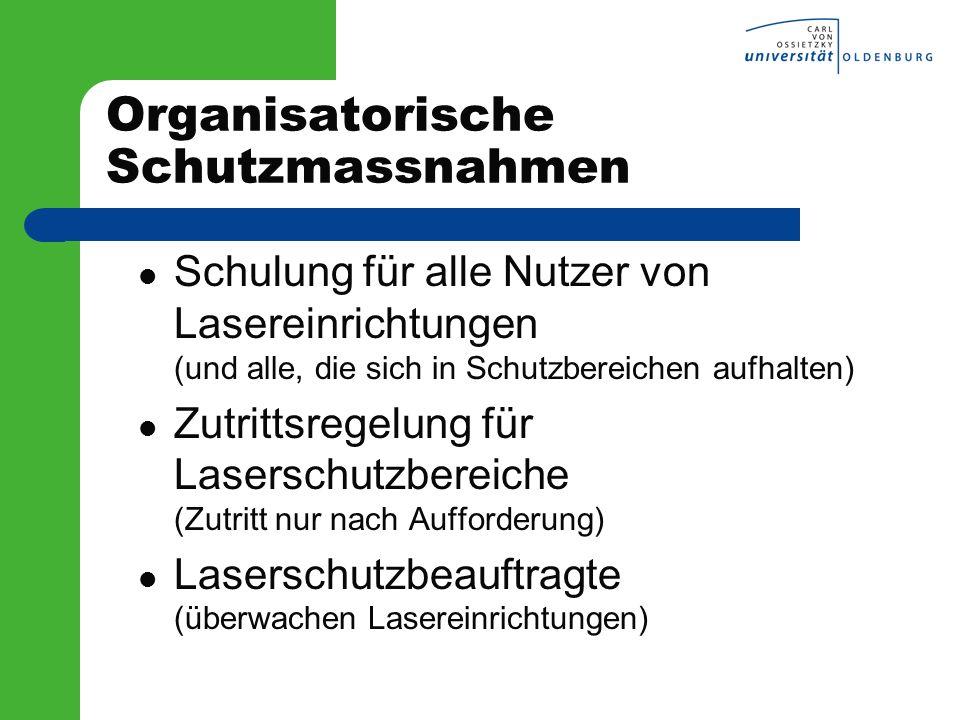 Organisatorische Schutzmassnahmen