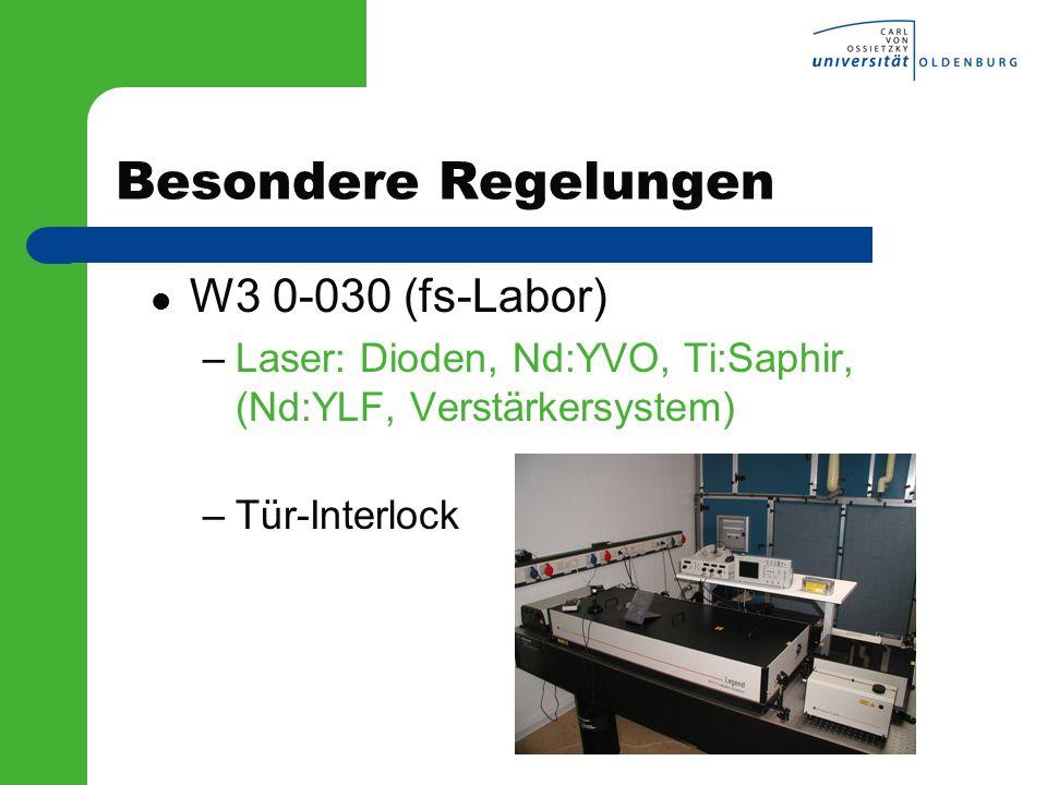 Besondere Regelungen W3 0-030 (fs-Labor)