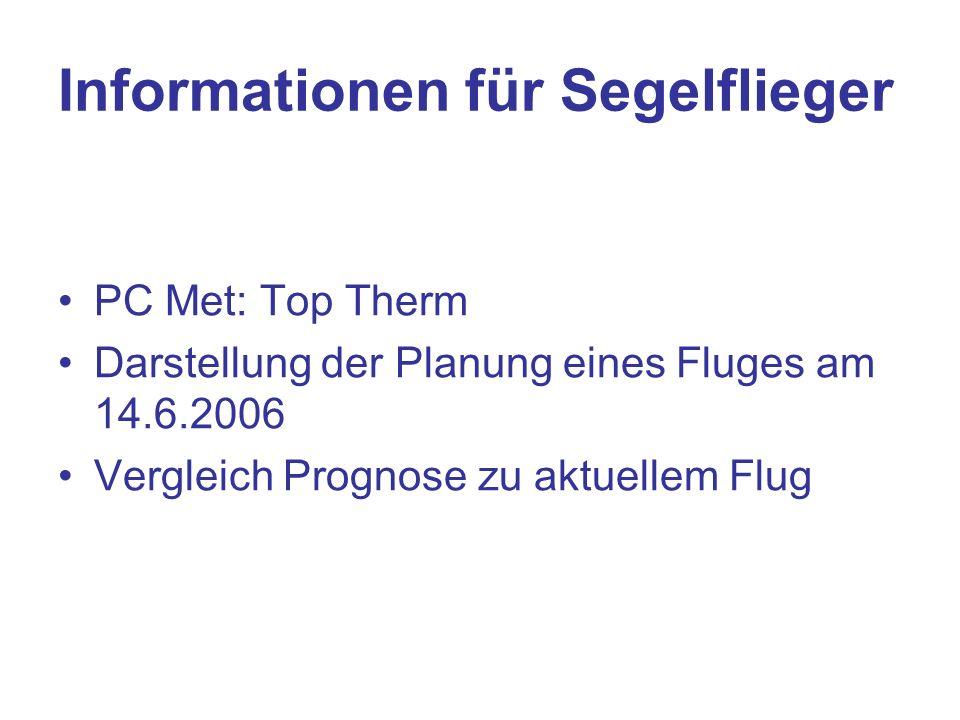 Informationen für Segelflieger
