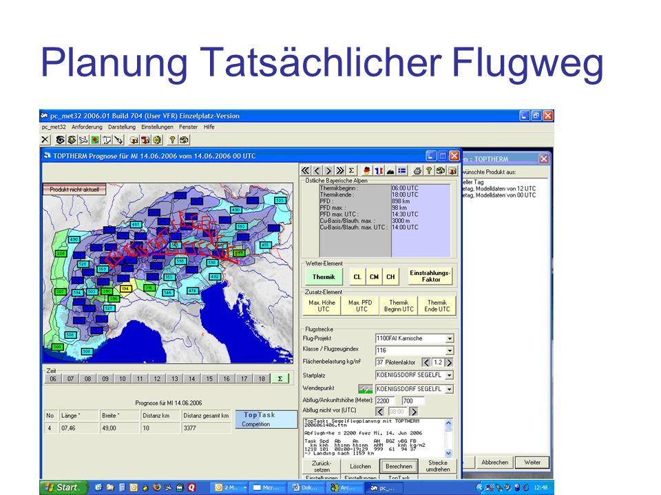 Planung Tatsächlicher Flugweg