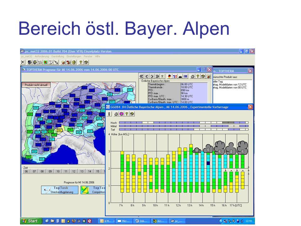 Bereich östl. Bayer. Alpen