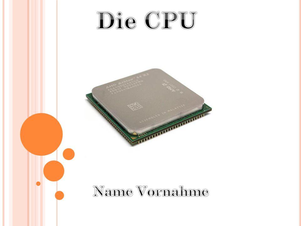 Die CPU Name Vornahme