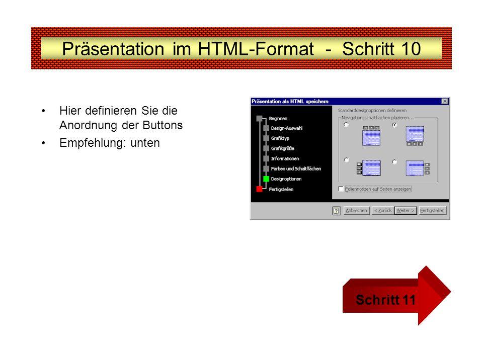 Präsentation im HTML-Format - Schritt 10