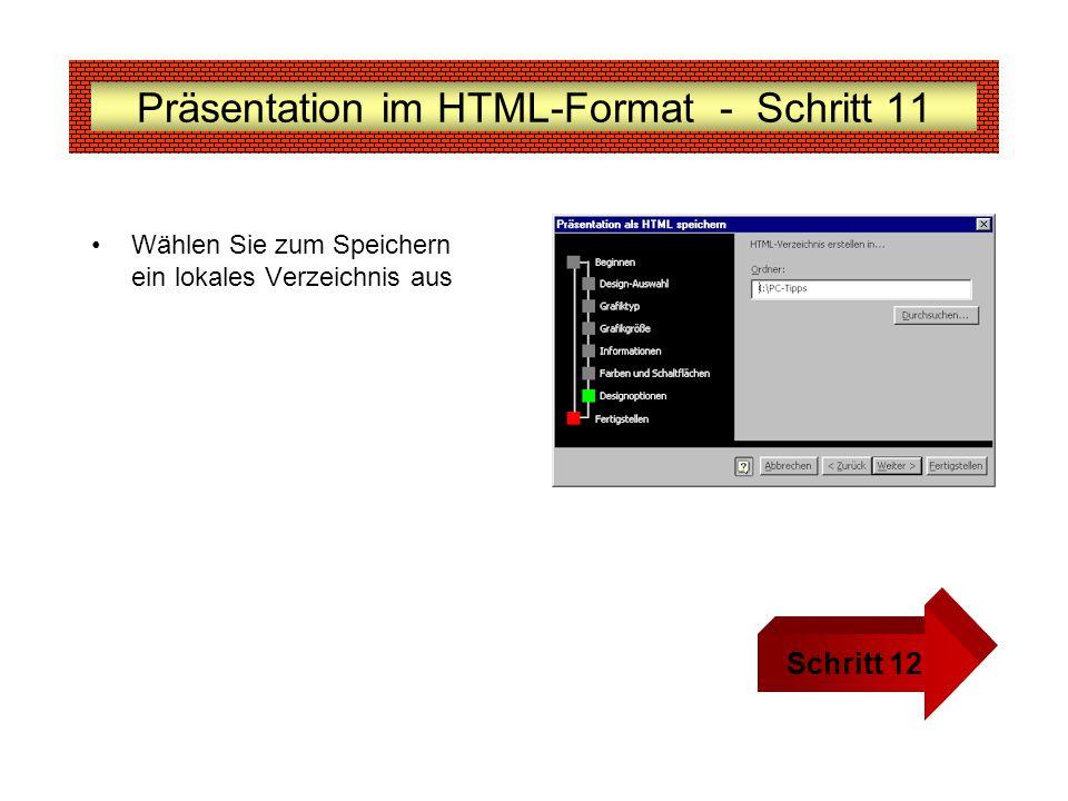 Präsentation im HTML-Format - Schritt 11