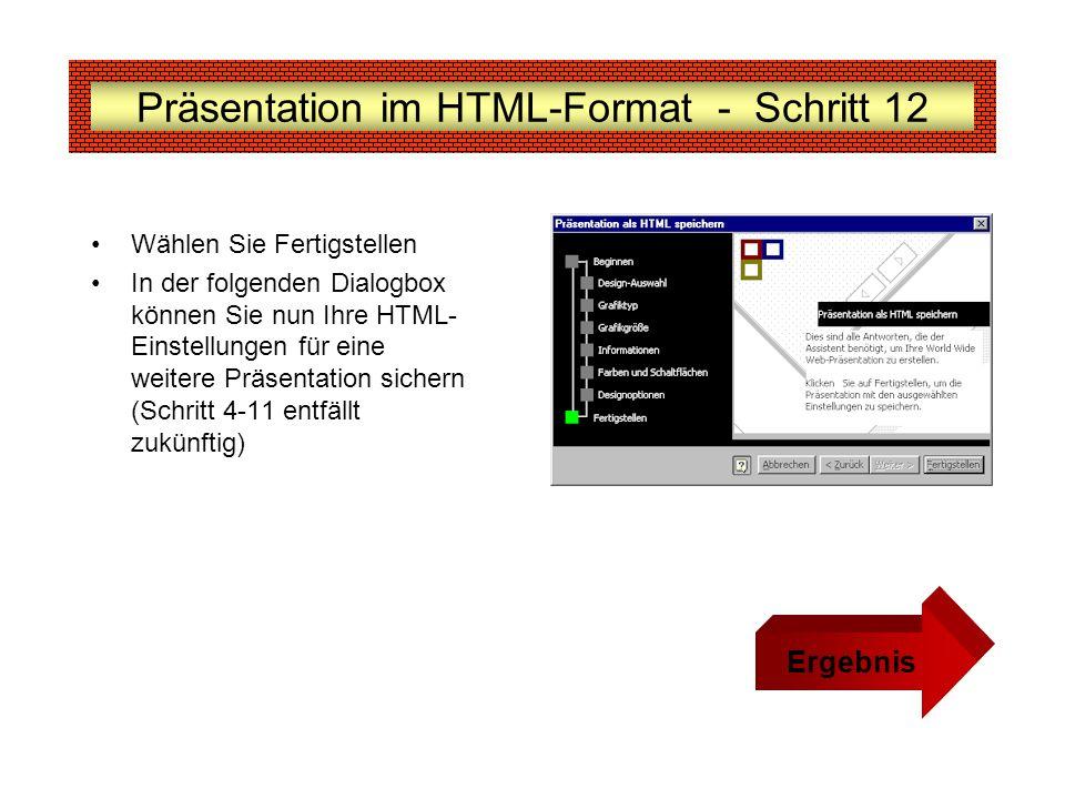 Präsentation im HTML-Format - Schritt 12