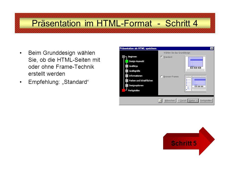Präsentation im HTML-Format - Schritt 4