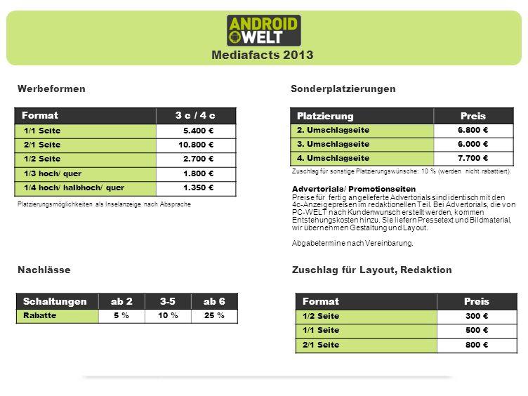 Mediafacts 2013 Werbeformen Sonderplatzierungen