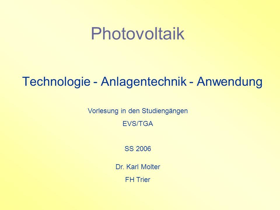 Technologie - Anlagentechnik - Anwendung