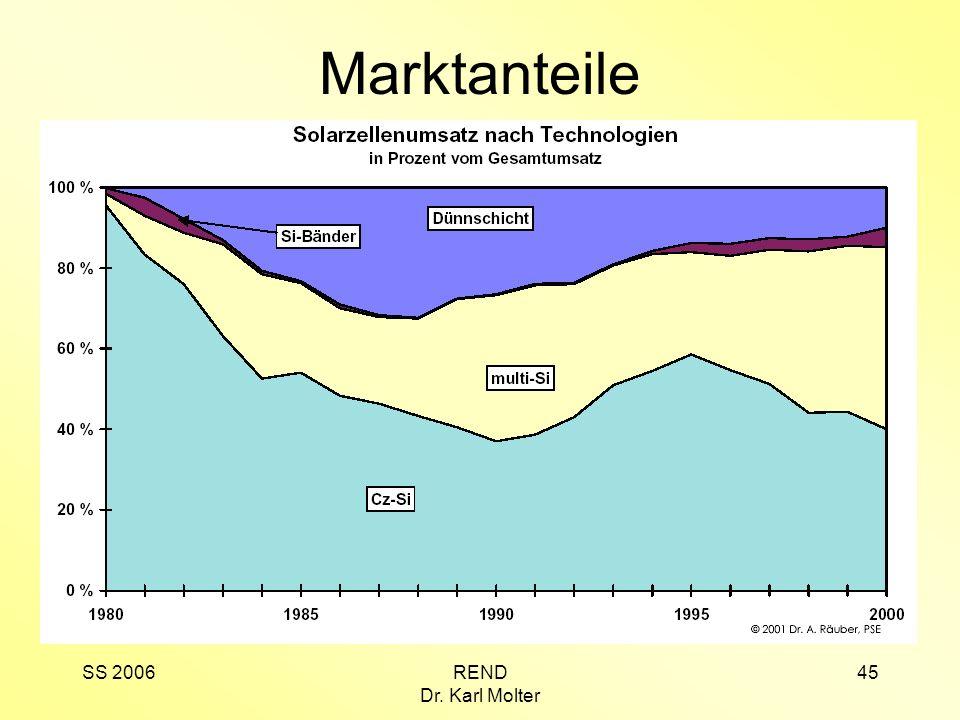Marktanteile SS 2006 REND Dr. Karl Molter