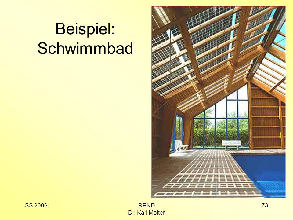 Beispiel: Schwimmbad SS 2006 REND Dr. Karl Molter