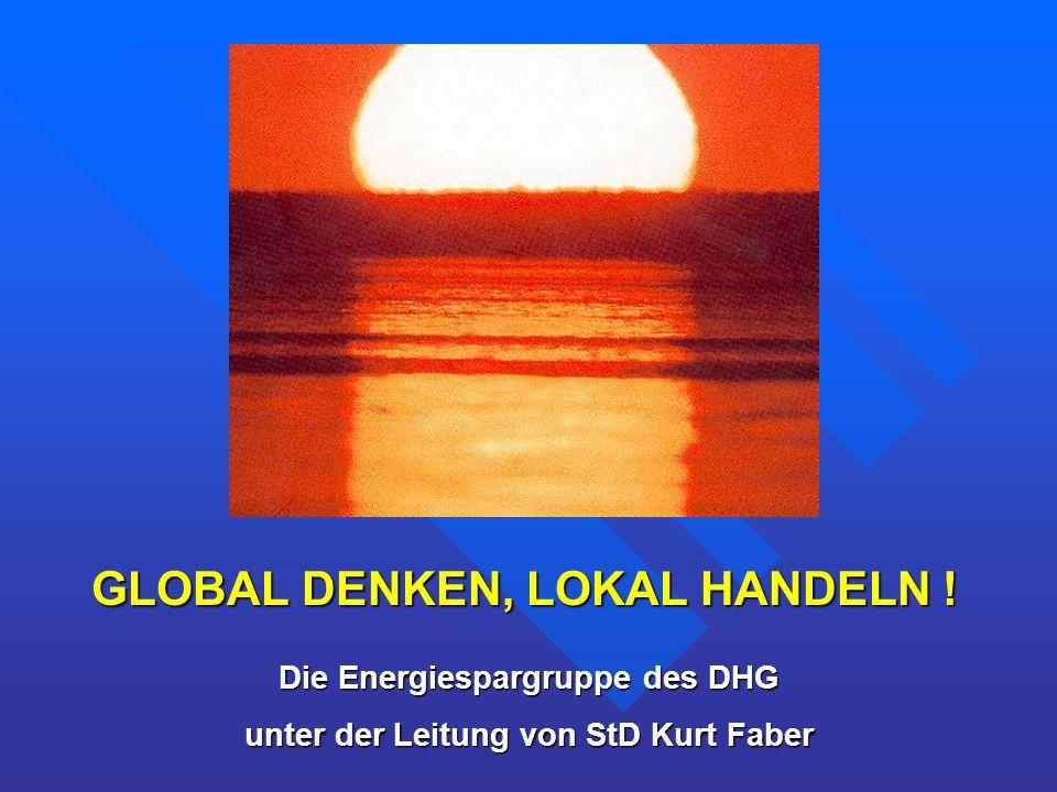 GLOBAL DENKEN, LOKAL HANDELN !