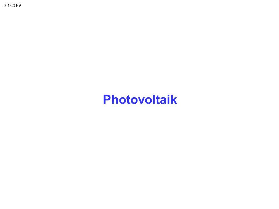 3.13.3 PV Photovoltaik