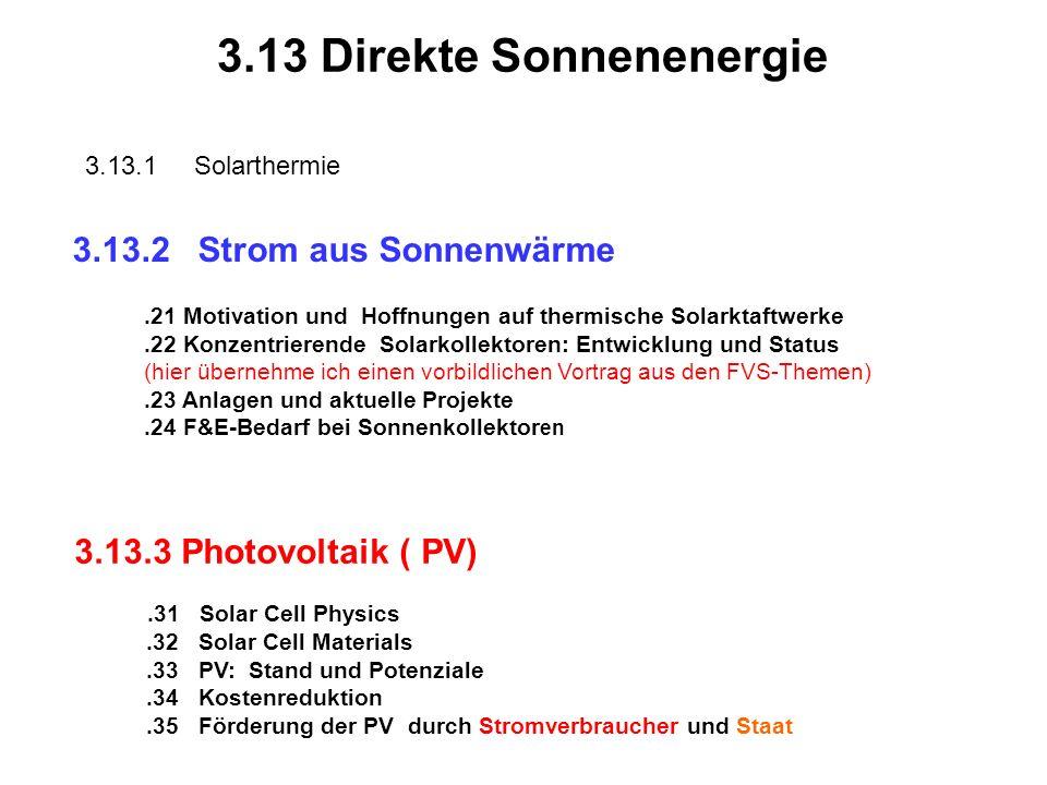 3.13 Direkte Sonnenenergie