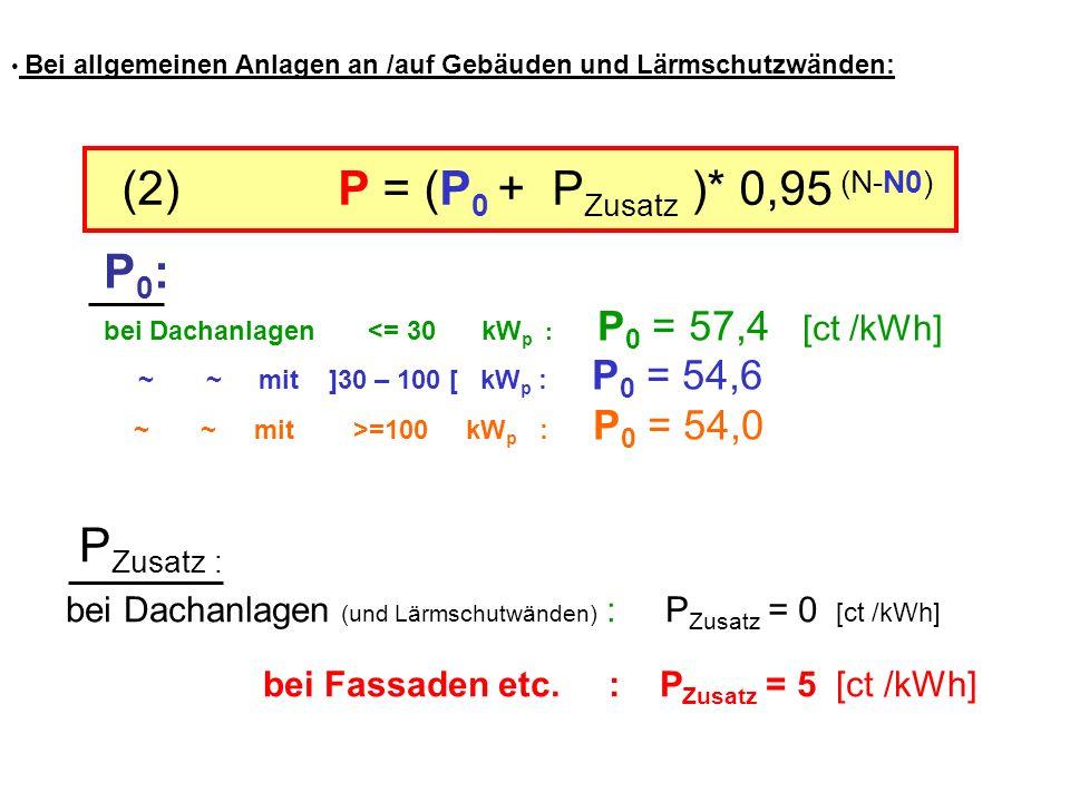 (2) P = (P0 + PZusatz )* 0,95 (N-N0)