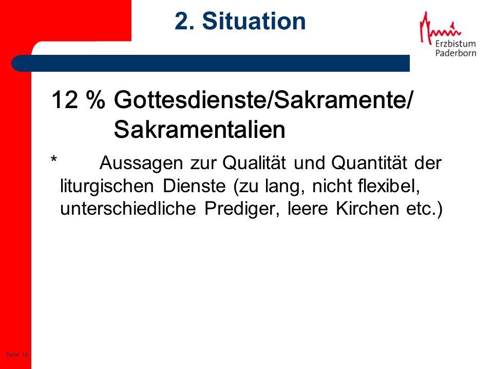 12 % Gottesdienste/Sakramente/ Sakramentalien