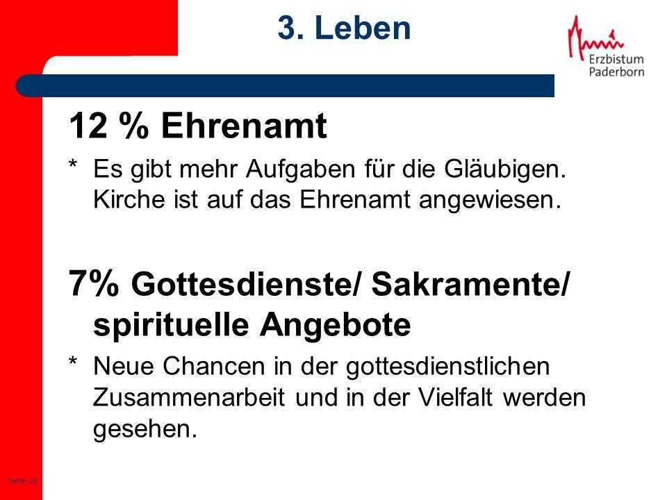 7% Gottesdienste/ Sakramente/ spirituelle Angebote