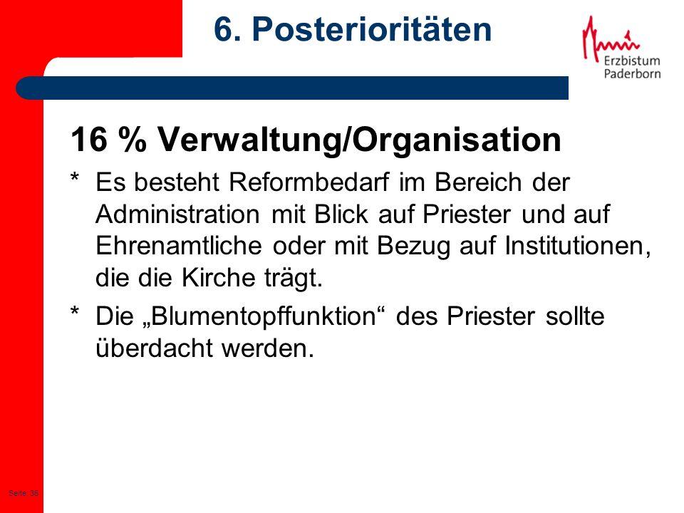 16 % Verwaltung/Organisation