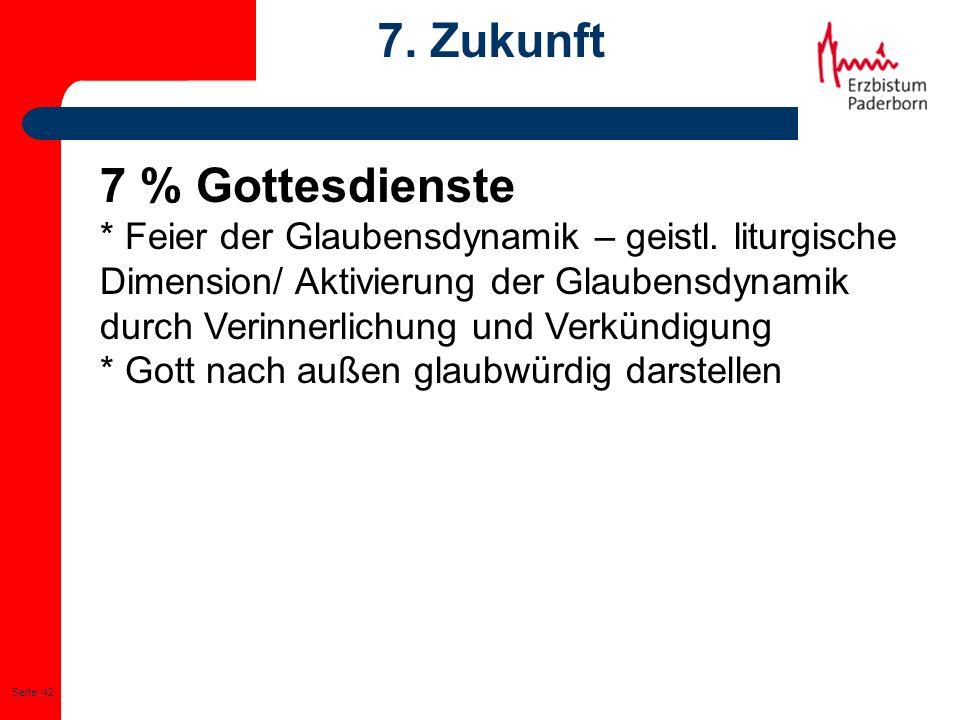 7. Zukunft 7 % Gottesdienste