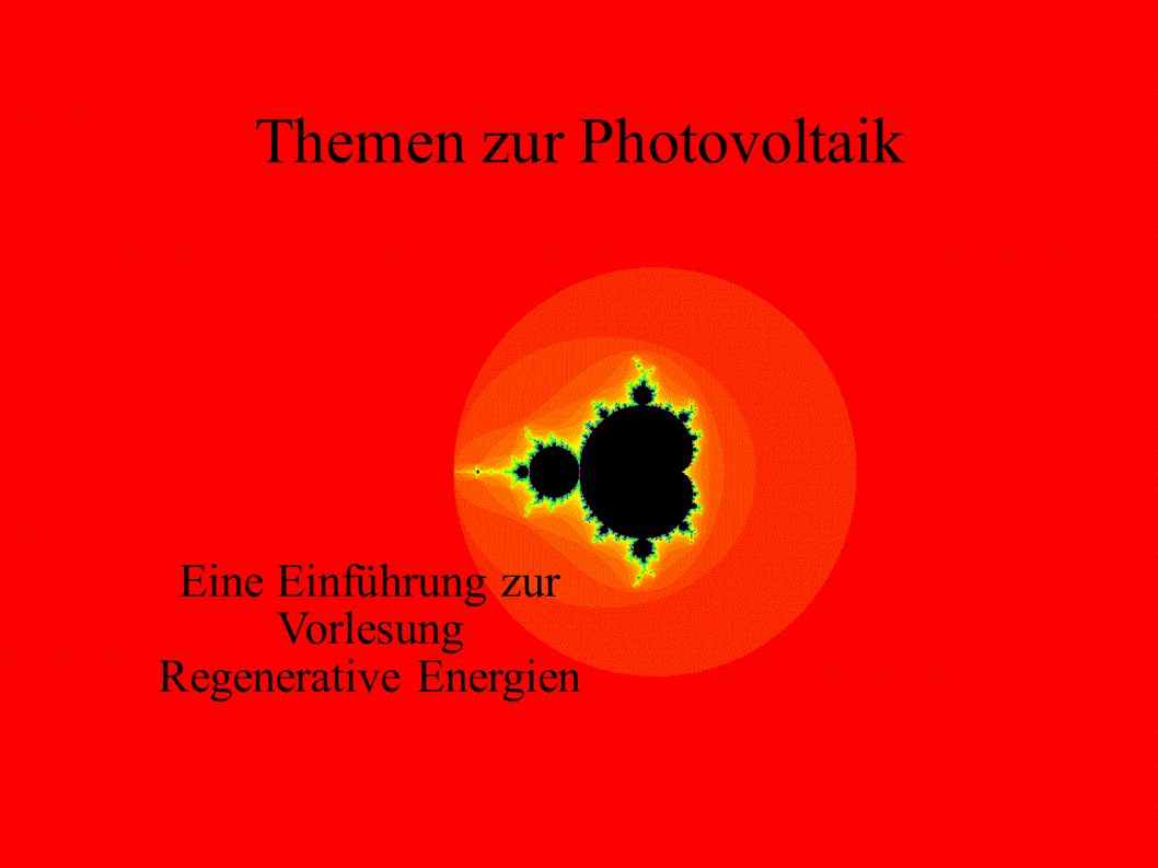 Themen zur Photovoltaik
