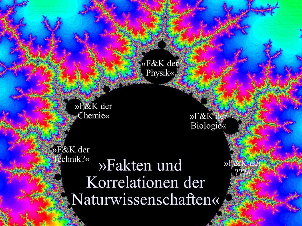 »Fakten und Korrelationen der Naturwissenschaften«