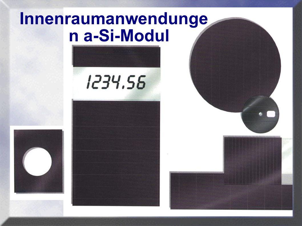 Innenraumanwendungen a-Si-Modul