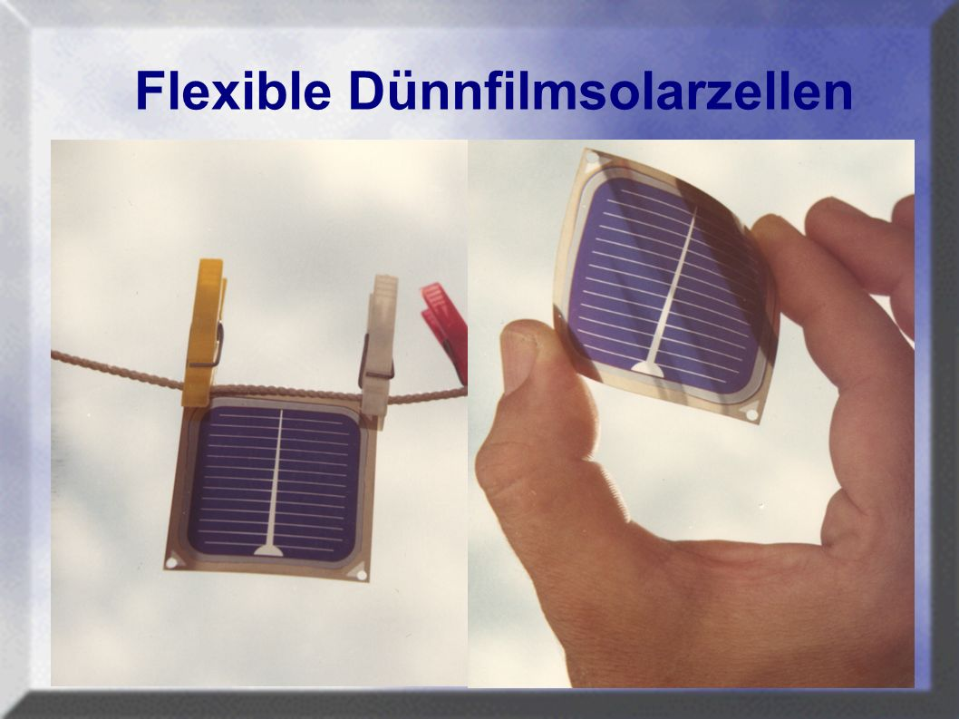 Flexible Dünnfilmsolarzellen