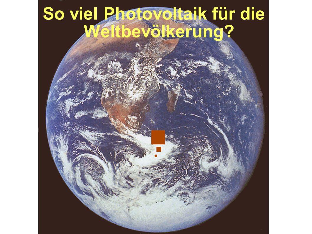 So viel Photovoltaik für die Weltbevölkerung
