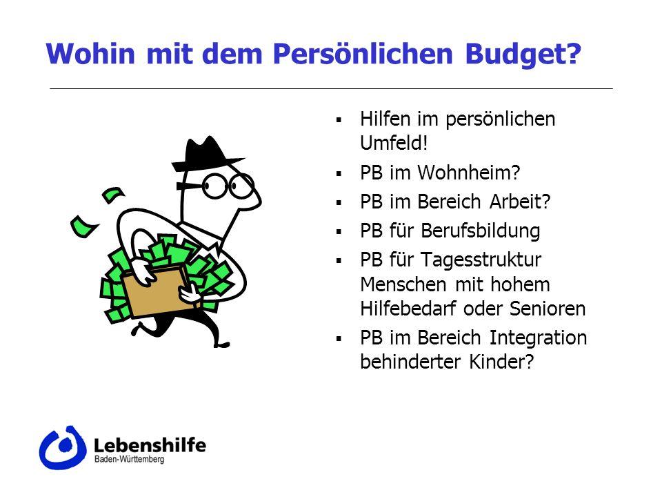 Wohin mit dem Persönlichen Budget