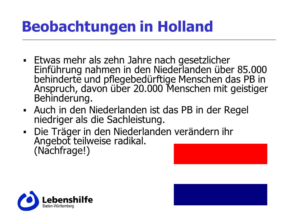 Beobachtungen in Holland