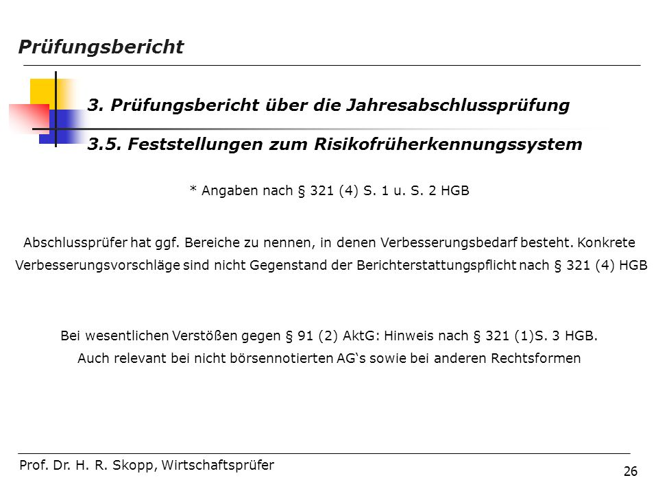 * Angaben nach § 321 (4) S. 1 u. S. 2 HGB
