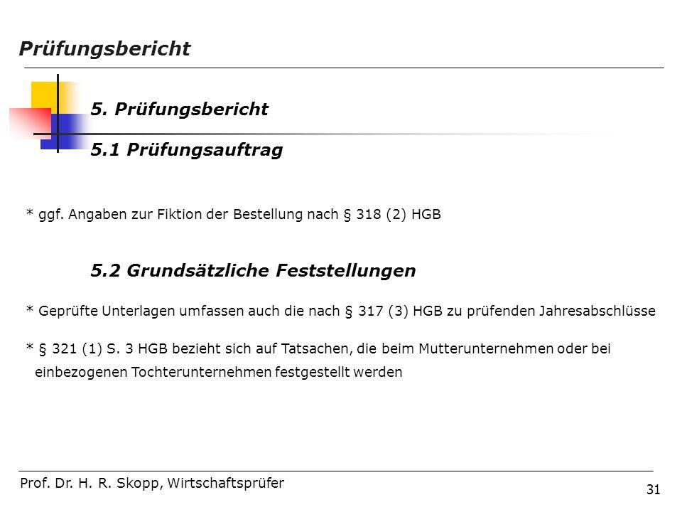 Prüfungsbericht 5. Prüfungsbericht 5.1 Prüfungsauftrag
