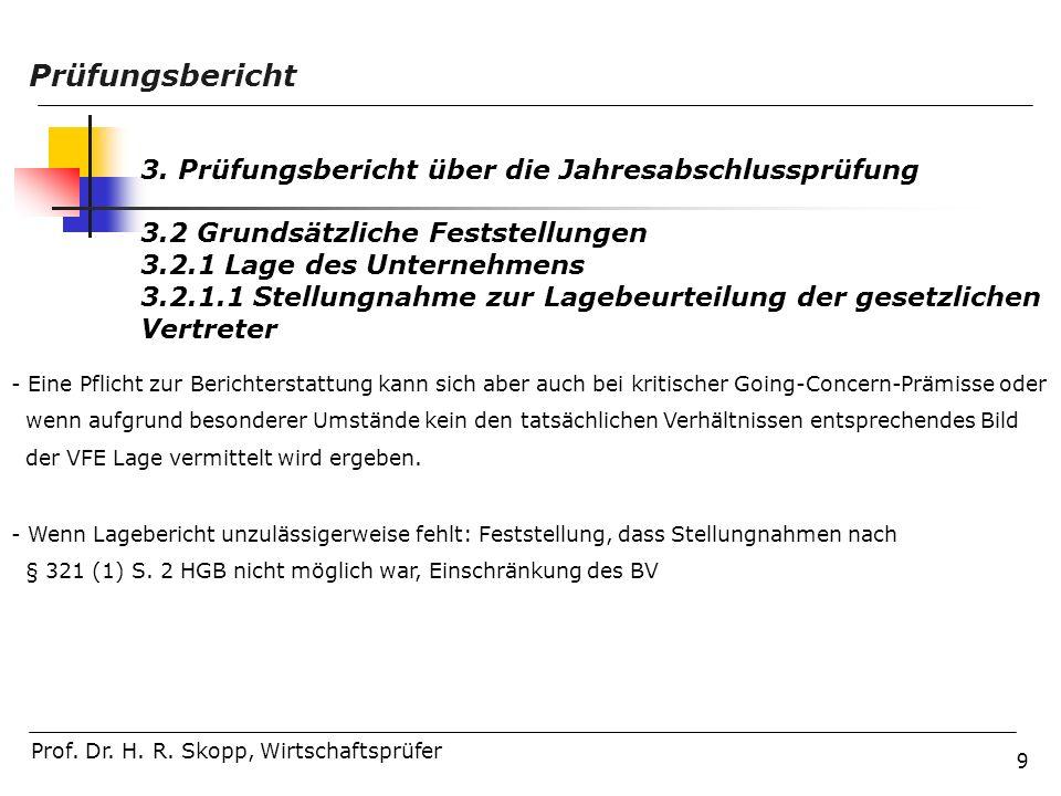 Prüfungsbericht 3. Prüfungsbericht über die Jahresabschlussprüfung