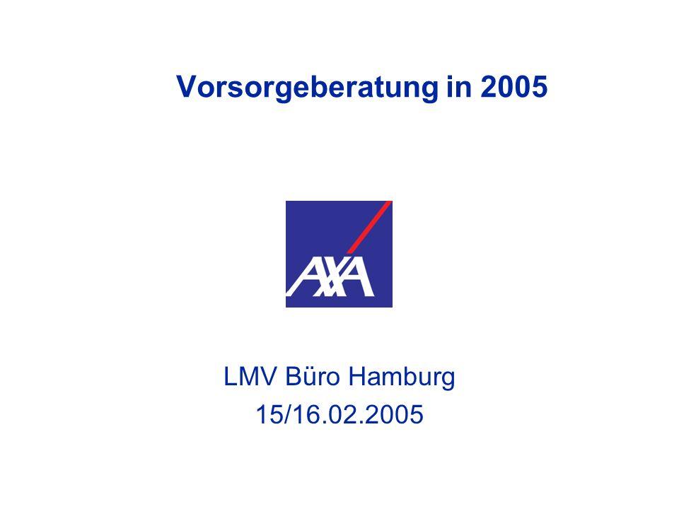 Vorsorgeberatung in 2005 LMV Büro Hamburg 15/16.02.2005