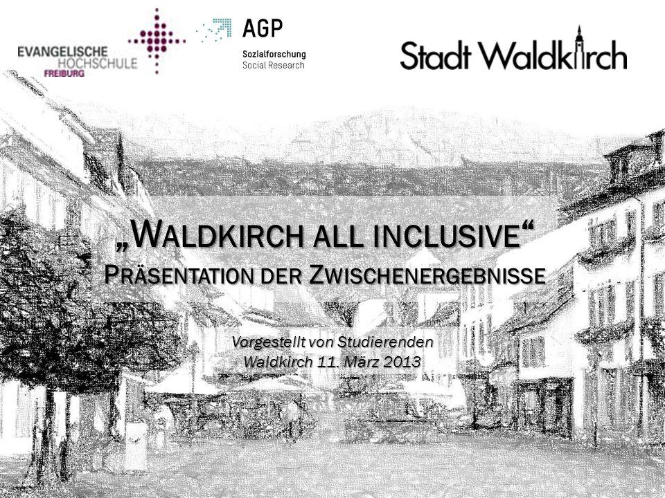 """""""Waldkirch all inclusive Präsentation der Zwischenergebnisse"""