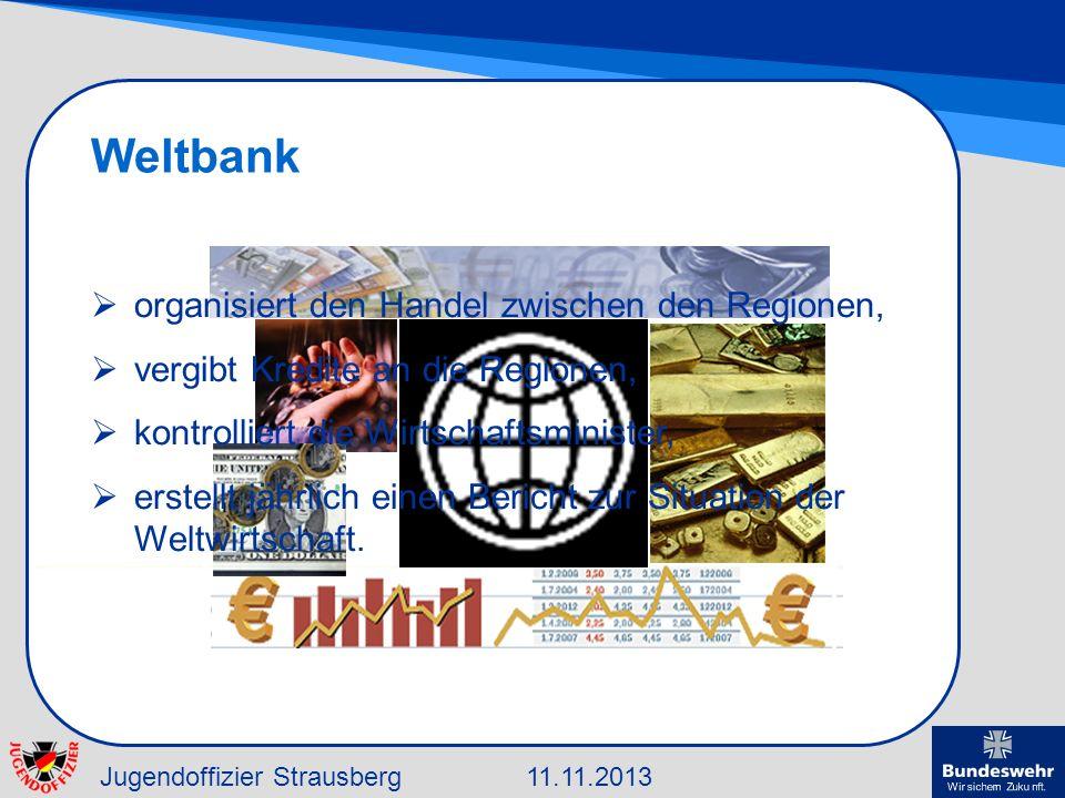 Weltbank organisiert den Handel zwischen den Regionen,