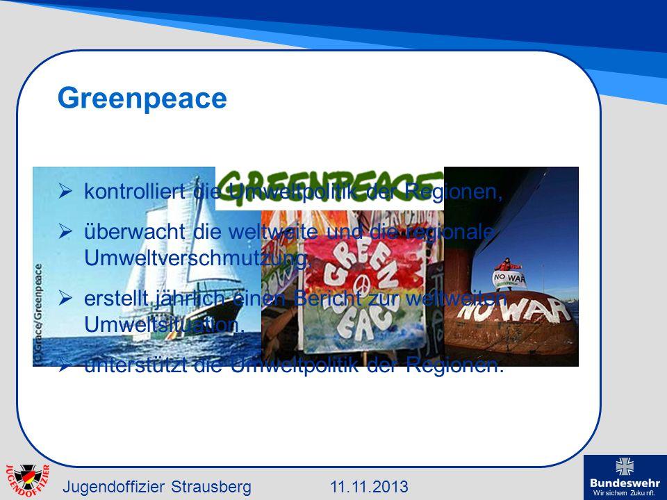 Greenpeace kontrolliert die Umweltpolitik der Regionen,